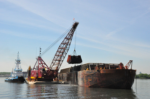 Dredging in the New York Harbor