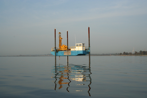 Hydrogeologic subsurface investigations on the Chesapeake Bay.